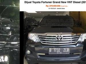 Setya Novanto Tak Hanya Sekali Naik Fortuner B 1723 ZLO