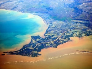 Lanskap Aerial Jalur Sungai Citarum