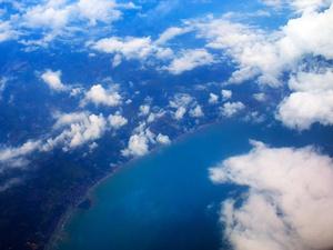 Lanskap Surabaya dan Sekitarnya dari Udara