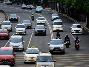 800 Kendaraan Ditilang Setelah Motor Diperbolehkan di Thamrin