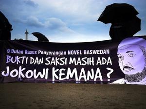 Aksi Solidaritas Untuk Novel Baswedan.