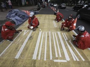 Buat Lajur Khusus Roda Dua di Thamrin, Dishub: Melanggar, Tilang!