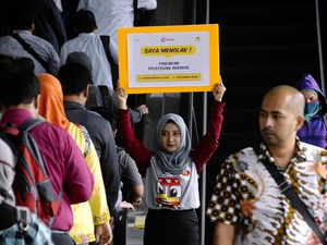 Aksi Melawan Kekerasan Seksual di Kereta