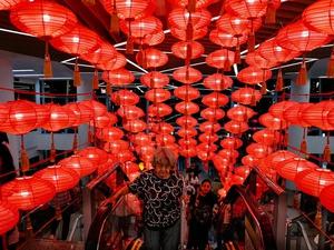 Dekorasi Imlek di Mall Jakarta