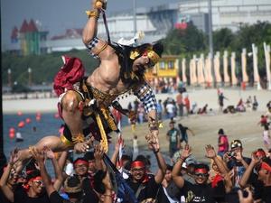 Festival Ogoh-ogoh di Pantai Ancol