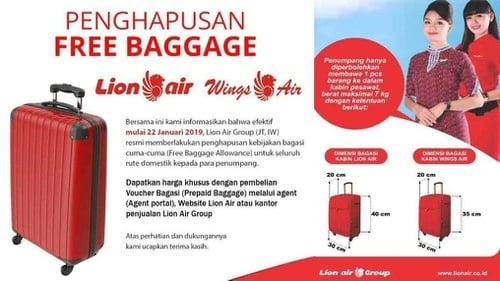 Daftar Tarif Bagasi Pesawat Lion Air Mulai 22 Januari 2019 Tirto Id