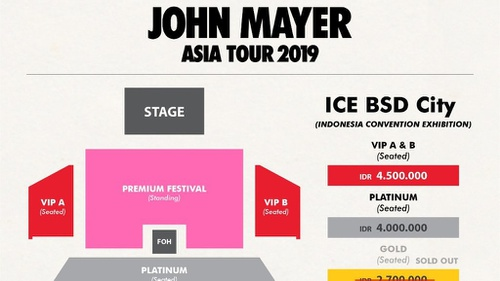 Tiket Tambahan Konser John Mayer Di Jakarta Dijual Hari Ini