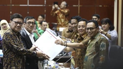 Image result for revisi UU KPK yang telah disahkan dalam Rapat Paripurna DPR RI