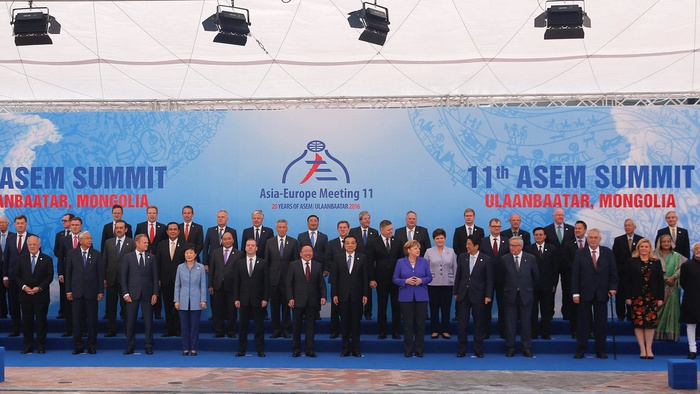 Konferensi Tingkat Tinggi Pertemuan Asia-Eropa di Ulan Bator, Mongolia. Antara Foto/Reuters/Damir Sagolj.