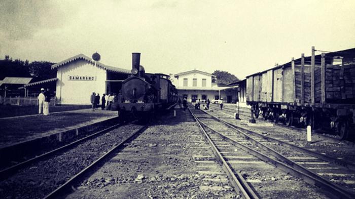 Stasiun Semarang, circa 1867. FOTO/KITLV