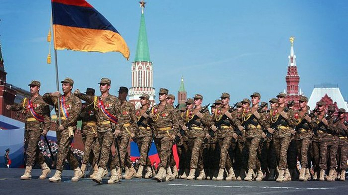 Pasukan bersenjata Armenia saat Parade Hari Kemenangan, Moscow, 2010. FOTO/Wikimedia Commons