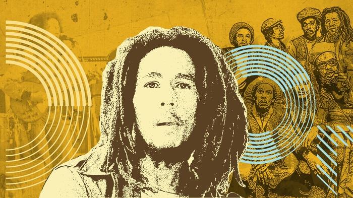 Ilustrasi Bob Marley (1945-1981). tirto.id/Sabit