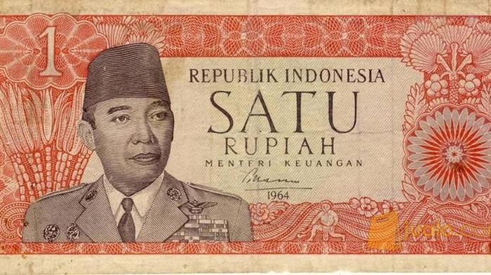 Uang kertas satu rupiah. FOTO/Istimewa