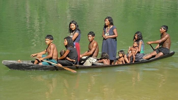 Suku Piraha di pedalaman hutan Amazon, Brazil. FOTO/Wikicommon