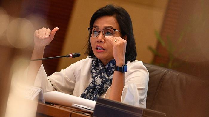 Menteri Keuangan Sri Mulyani memberikan konferensi pers APBN KiTa di kantor Kemenkeu, Jakarta, Kamis (16/5/2019). ANTARA FOTO/Sigid Kurniawan.