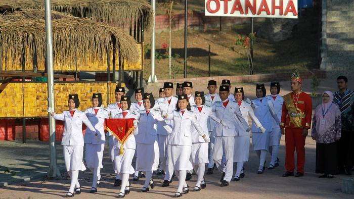 Suasana peringatan HUT Kemerdekaan RI di Benteng Otanaha, Gorontalo. Sumber: Tirto.id