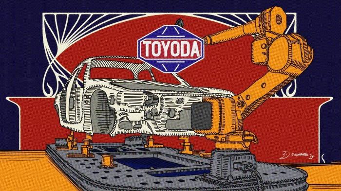 Ilustrasi Toyota. tirto.id/Deadnauval