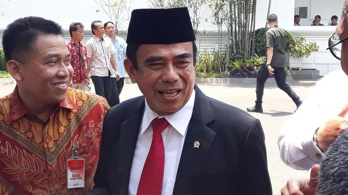 Mantan Wakil Panglima TNI Fachrul Razi tak tahu alasan pasti Presiden Joko Widodo memilih dirinya sebagai Menteri Agama, Kompleks Istana Kepresidenan, Jakarta, Rabu (23/10/2019). tirto.id/Bayu Septianto