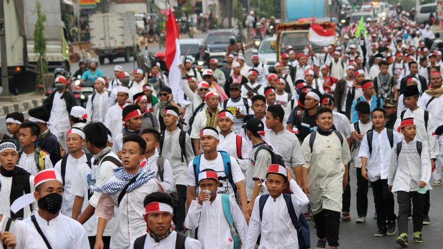 Pergerakan Massa Menuju Monas Sebabkan Kemacetan Ibu Kota