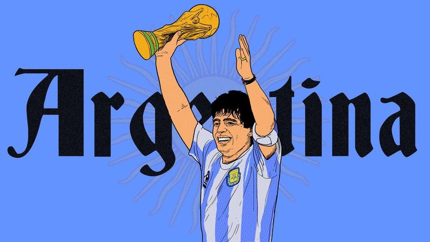Piala Dunia 1986 Pesona Maradona Cara Argentina Menepis Keraguan Tirto Id