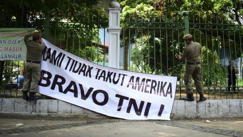 Poster Penolakan Gatot Nurmantyo ke Amerika Serikat