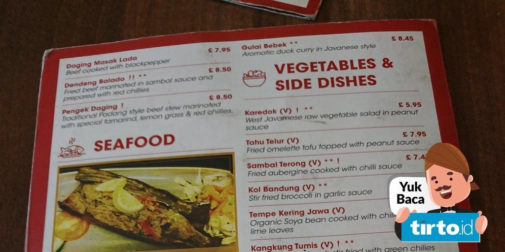 Harga Menu Makanan Di Resto Nusa Dua London Milik Bos First Travel