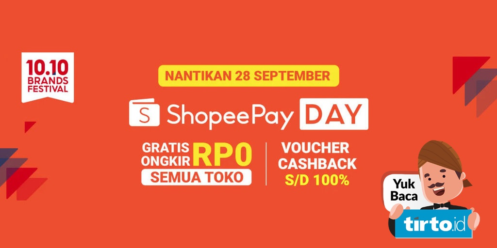 shopeepay day 10 10 digelar 28